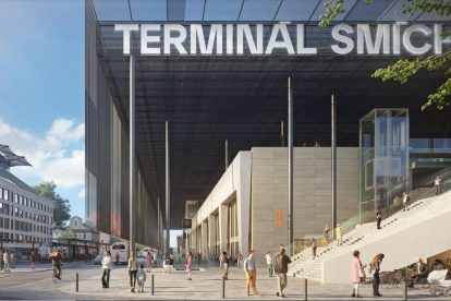 Aktualizovaná vizualizace Terminálu Smíchov. Foto: A69 Architekti