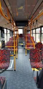 Interiér autobusů SOR NS 12 pro provoz v Liberci. Foto: DPMLJ