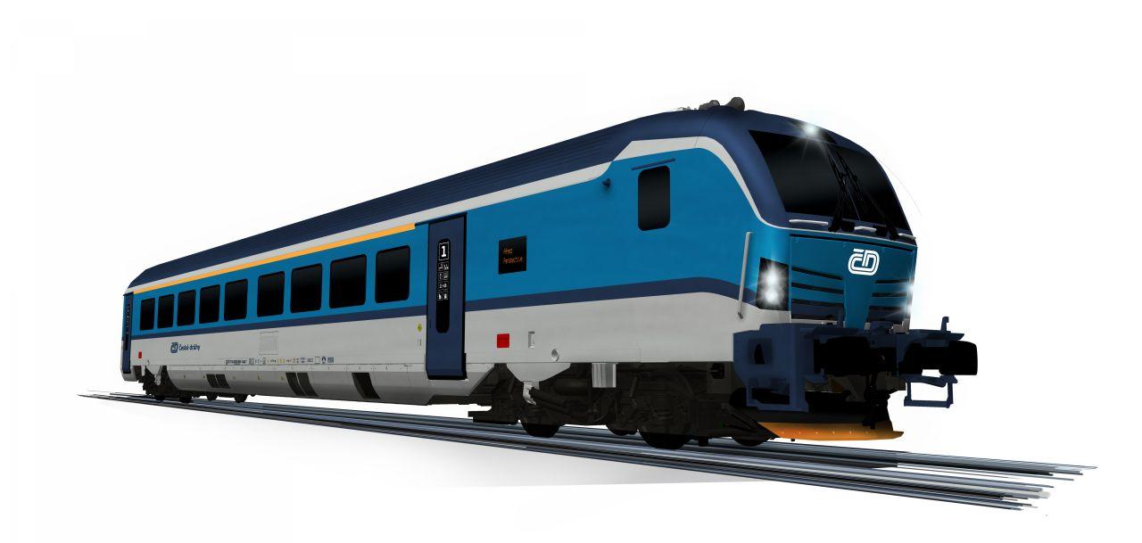 Řídící vůz pro soupravu na 230 km/h pro České dráhy. Foto: Siemens