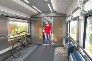 Oddíl pro kola v nových soupravách pro České dráhy na 230 km/h. Foto: Siemens