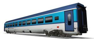 Vůz 2. třídy pro nové soupravy Českých drah na 230 km/h. Foto: Siemens