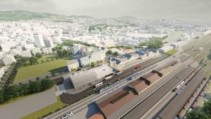 Vizualizace přestupního terminálu v Liberci. Foto: Liberecký kraj