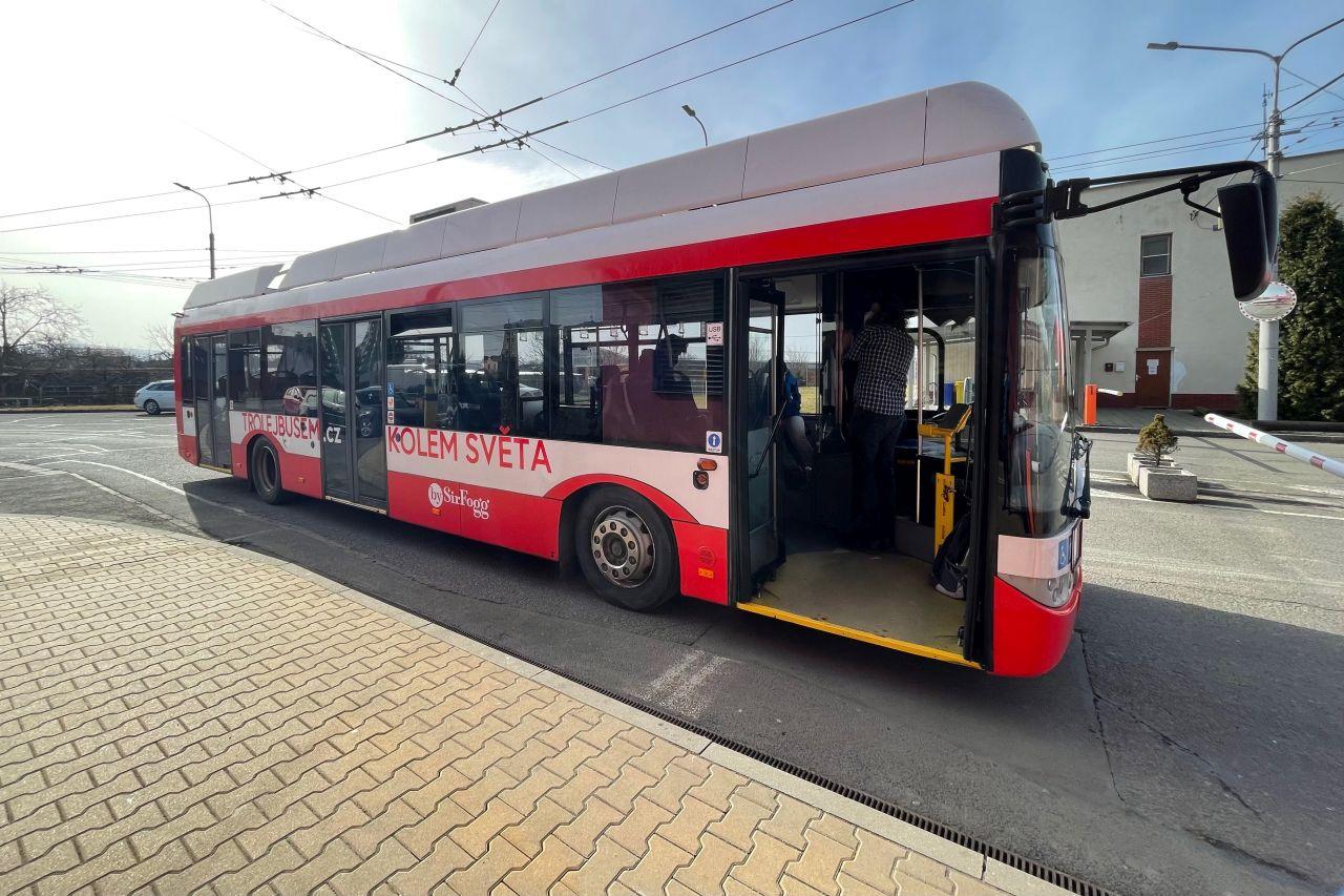 Trolejbus Solaris Trolino 12 pro cestu kolem světa. Foto: Martin Zavadil