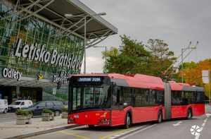Trolejbus v Bratislavě. Foto: DPB