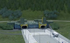 Vizualizace tunelu Višňové. Foto: NDS