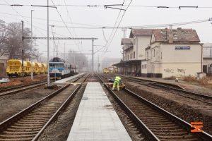 Stanice Praha - Vysočany v březnu 2021. Foto: Správa železnic