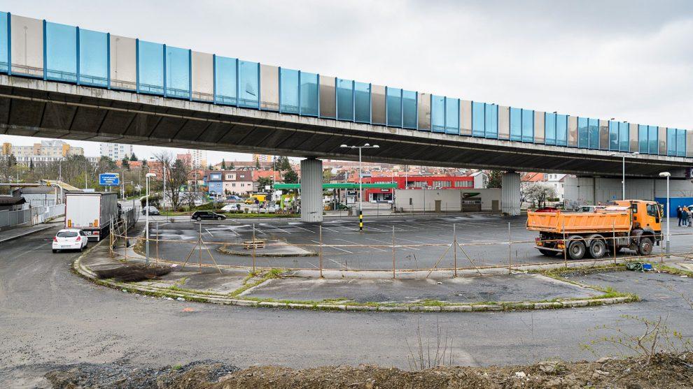 Místo budoucí tramvajové smyčky Zahradní Město. Pramen: DPP - Petr Hejna