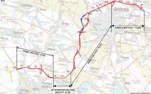 Trasa navrhované přeložky silnice II/312 Vysoké Mýto - Choceň. Foto: Pardubický kraj