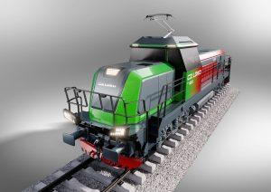 Model nové lokomotivy DualShunter 2000, kterou si objednal italský dopravce Mercitalia Rail. Pramen: CZ LOKO