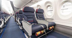 Interiér A220-300 společnosti EgyptAir. Foto: EgyptAir