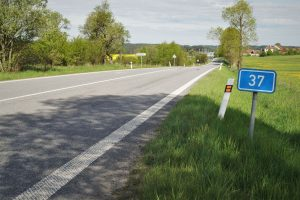 Silnice I/37 na Vysočině. Pramen: ŘSD