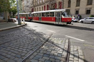Torzo tratě v Opletalově ulici. Pramen: ROPID
