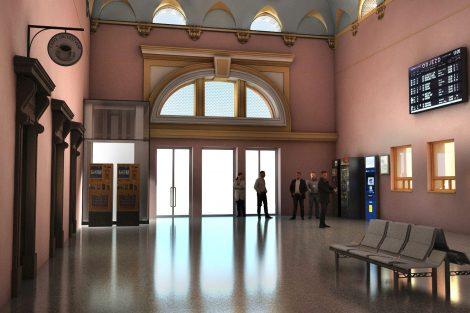 BBudova stanice Plzeň-Jižní Předměstí, vizualizace. Pramen: Správa železnic