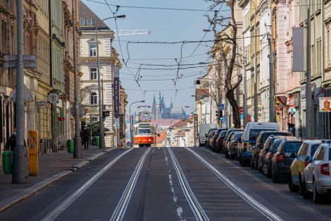 Seifertova ulice v Praze na Žižkově. Pramen. IPR Praha