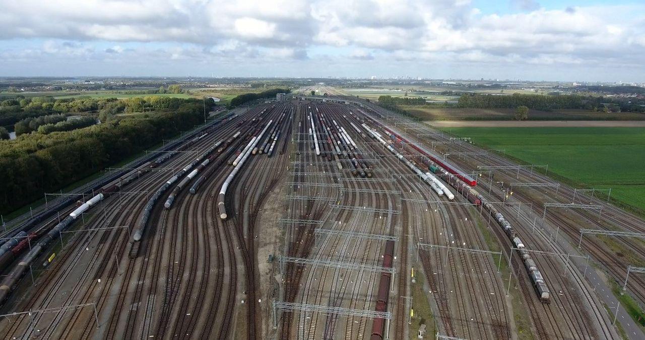 Seřaďovací nádraží Kijfhoek v Nizozemí. Pramen: Siemens