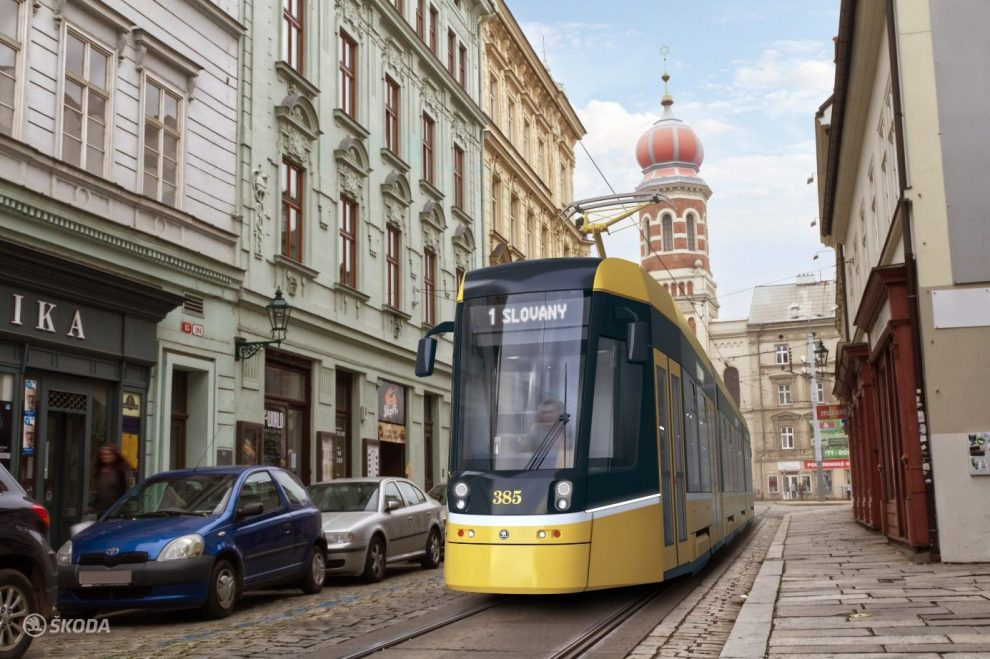 Nová tramvaj ForCity Smart Plzeň. Pramen: Škoda Transportation