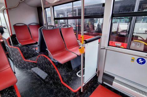 Autobus Solaris Urbino 18 pro českobudějovickou MHD. Pramen: DPMCB