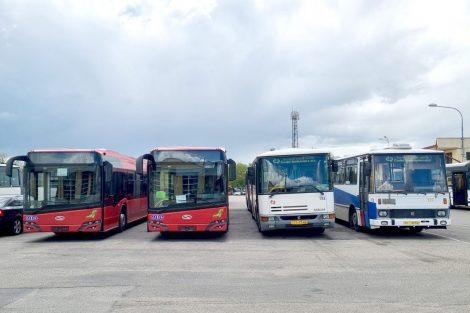Autobusy Dopravního podniku města České Budějovice. Pramen: DPMCB