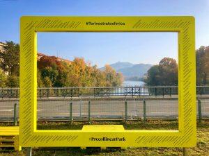 Pohled z Precollinear parku na řeku Pád. Pramen: Torino Stratosferica
