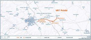 VRT Polabí Běchovice - Poříčany. Pramen: Správa železnic