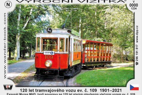 Nová turistická vizitka DPP k výroční vozu 109. Foto: DPP