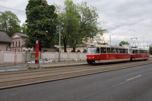 Vznikající zastávka v ulici Jana Želivského. Pramen: ROPID