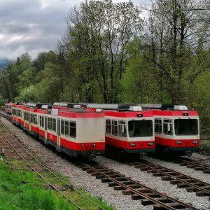 Elektrické jednotky ze Švýcarska pro Čiernohronskou železnici. Foto: ČHŽ