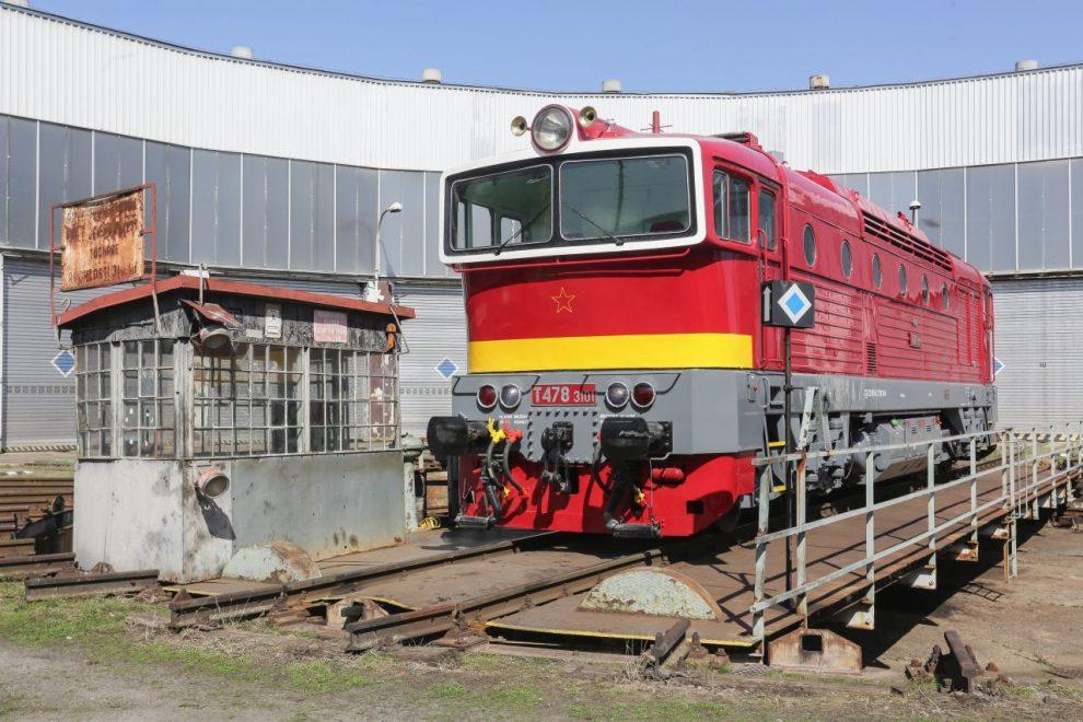 Lokomotiva T 478.3101 v novém laku. Foto: České dráhy