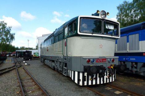 Lokomotiva T 478.3101 v posledním verzi laku před změnou nátěru. Foto: České dráhy