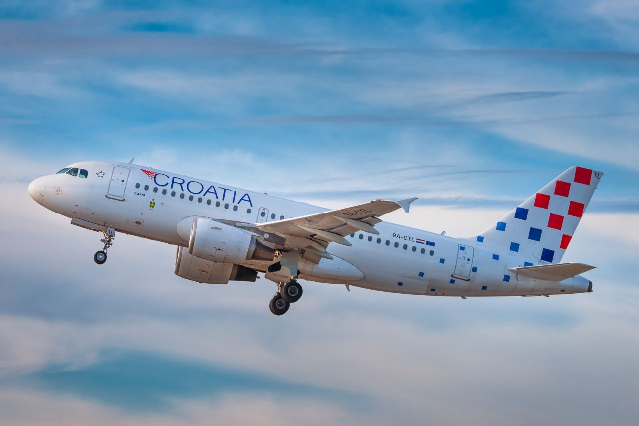 Airbus A319 v barvách Croatia Airlines. Foto: Croatia Airlines