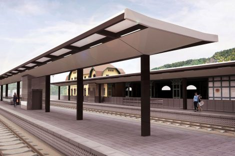 Železniční stanice Roztoky. Pramen: egoé