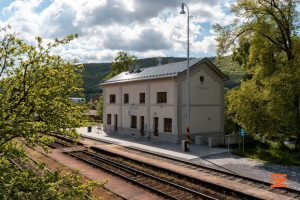 Opravené nádraží v Hýskově. Foto: Správa železnic