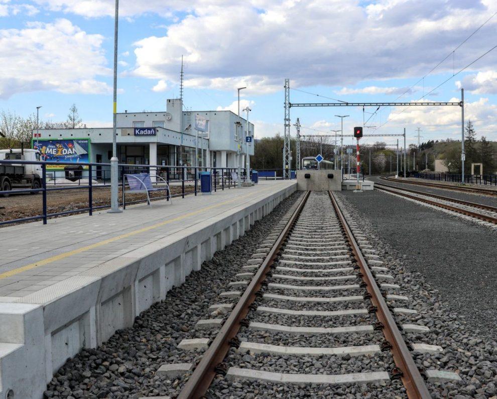 Stanice Kadaň po elektrizaci. Foto: Správa železnic