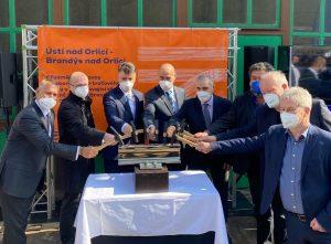Slavnostní zahájení stavby Ústí nad Orlicí - Brandýs nad Orlicí. Pramen: FB Eurovia