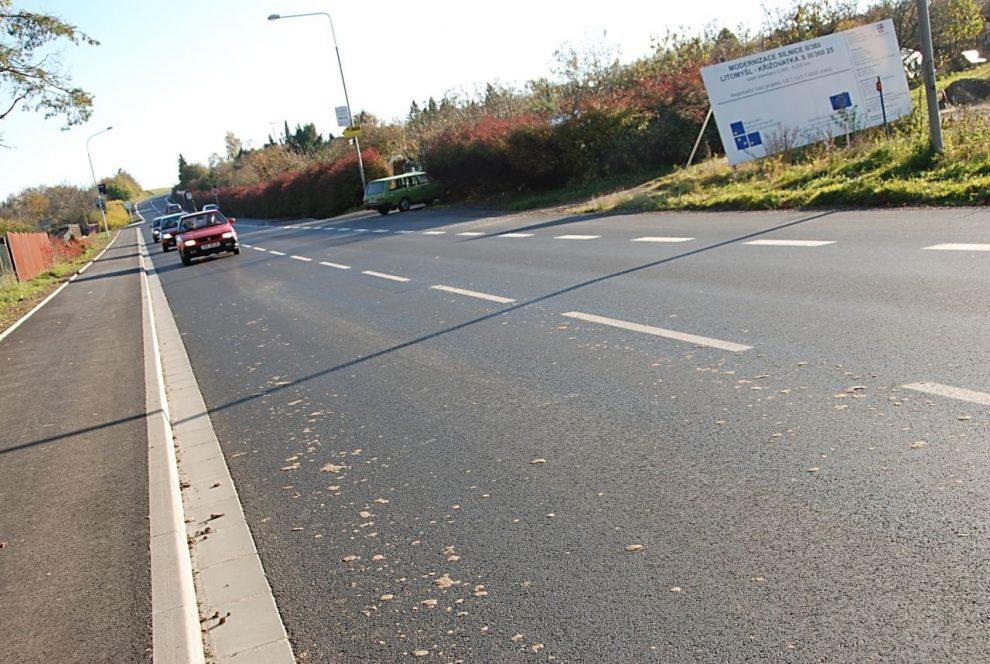 Silnice II/360 v Pardubickém kraji prošla velkou rekonstrukcí v roce 2010 za evropské dotace. Šlo o úsek na opačnou stranu od Litomyšle: do Poličky. Foto: ROP Severovýchod
