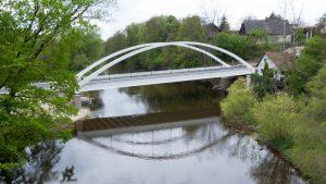 Nový most přes Jizeru v Loukově. Foto: Krajská správa a údržba silnic Středočeského kraje