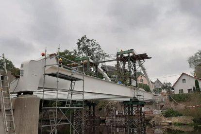 Stavba nového mostu přes Jizeru v Loukově. Foto: Fremos OK
