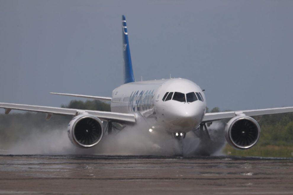 Letadlo MC-21-300 při testování. Foto: UAC