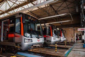Soupravy metra pro linku C. Foto: Pražská integrovaná doprava