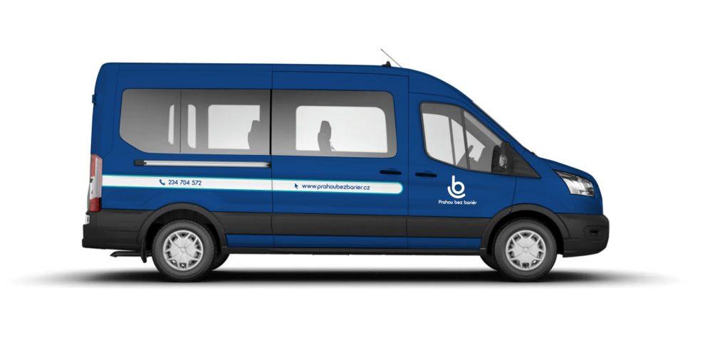 Mikrobus pro přepravu handicapovaných. Pramen: ROPID