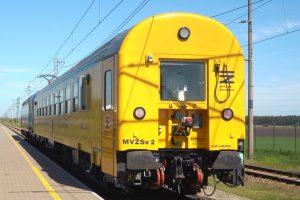 Měřící vůz MVŽSv 2 pro Správu železnic. Foto: twitterový účet Jiřího Svobody