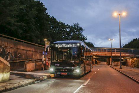 Testování elektrobusu MAN Lion's City 12 E, při kterém ujel 550 kilometrů na jedno dobití. Foto: MAN