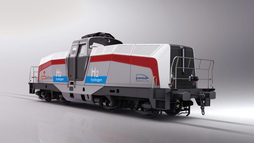 Nová vodíková lokomotiva od Pesy. Foto: Pesa