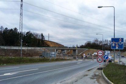 Ze stavby nového východního městského okruhu v Plzni na silnici I/20. Foto: M.Pecuch / Plzen.eu