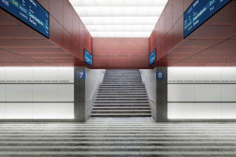 Nová podoba podchodů na hlavním nádraží v Praze. Pramen: Správa železnic