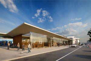 Vizualizace nové výpravní budovy stanice Praha - Radotín. Foto: Správa železnic