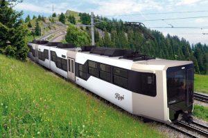 Podoba nového vlaku pro trať Arth-Goldau - Rigi. Foto: Rigi Bahnen