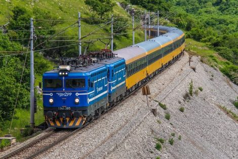 Vlak RegioJetu před Rijekou. Foto: Damir Miškulin