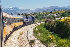 Vlak RegioJetu před Splitem. Foto: Jan Sůra / Zdopravy.cz