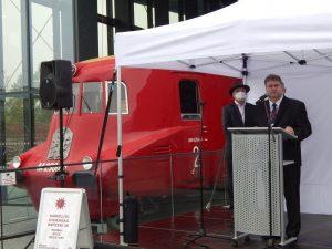 Spolumajitel Tatra Trucks René Matera (vlevo) a výkonný ředitel Tatry Pavel Lazar. Autor: Zdopravy.cz/Jan Šindelář